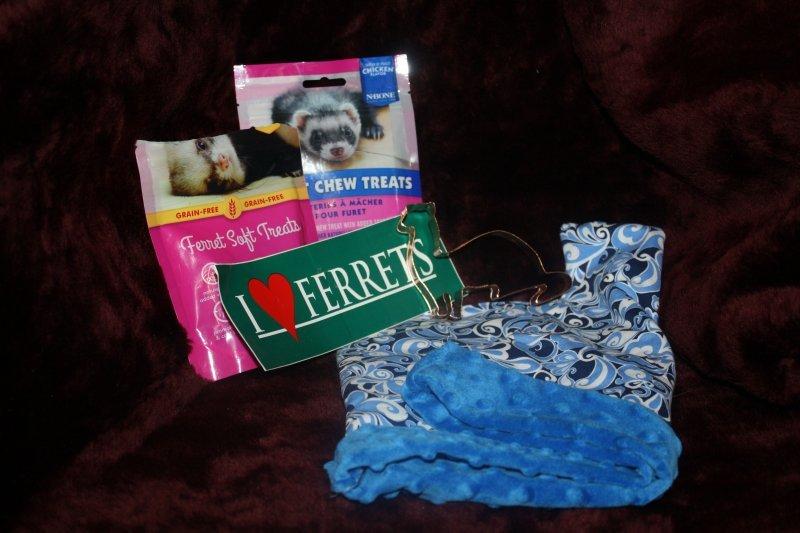 22. Blue sleep sack w/goodies