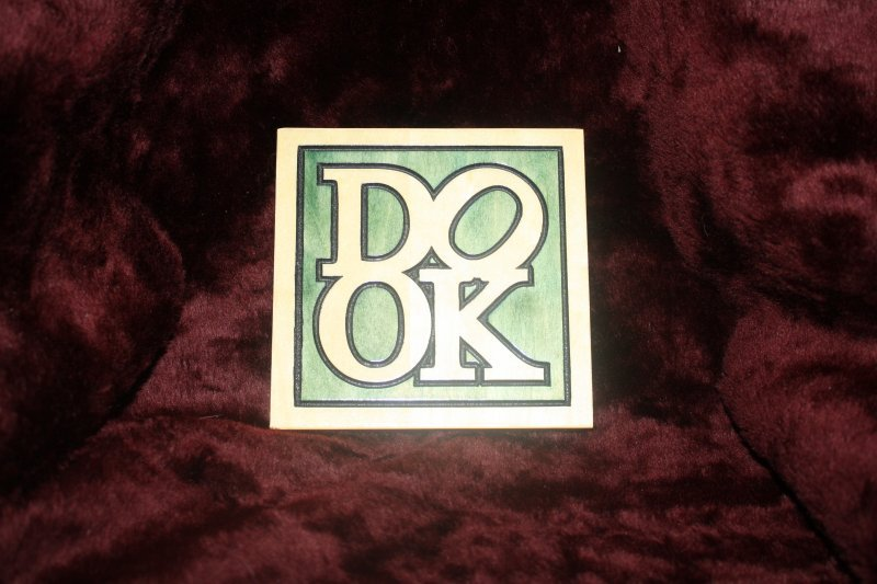 "26. ""dook"" wooden sign"