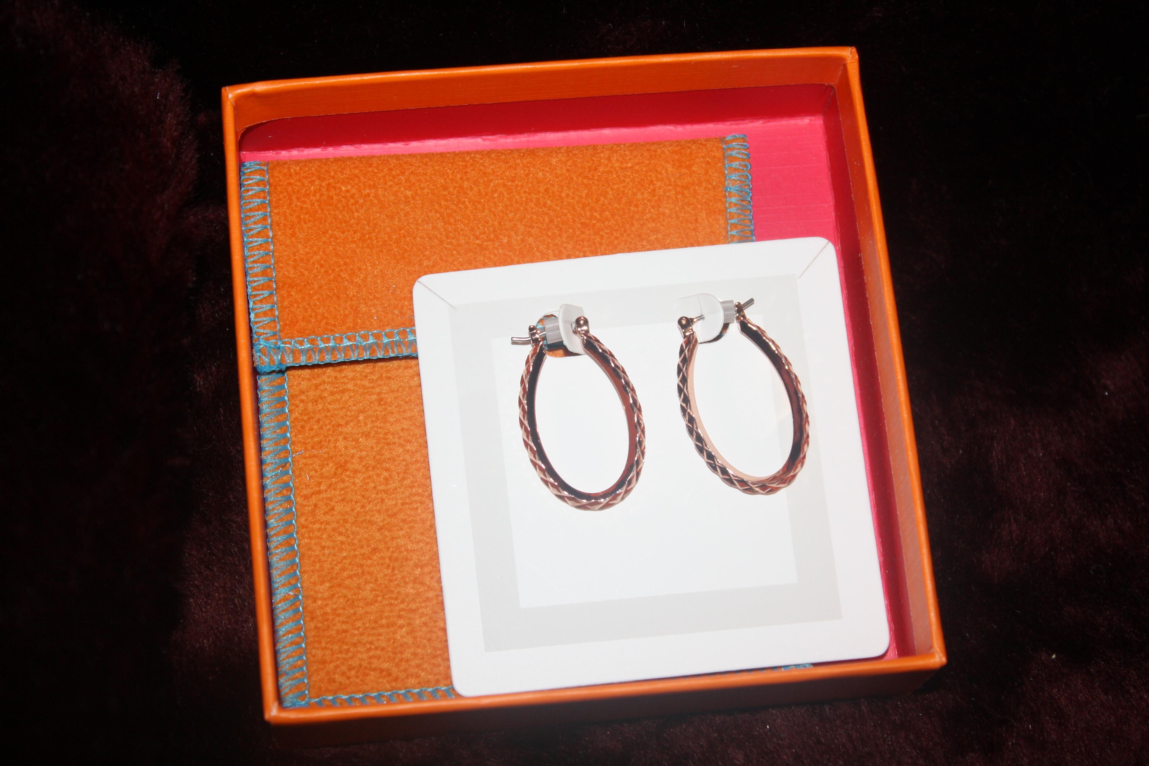 59. Single hoop copper earrings