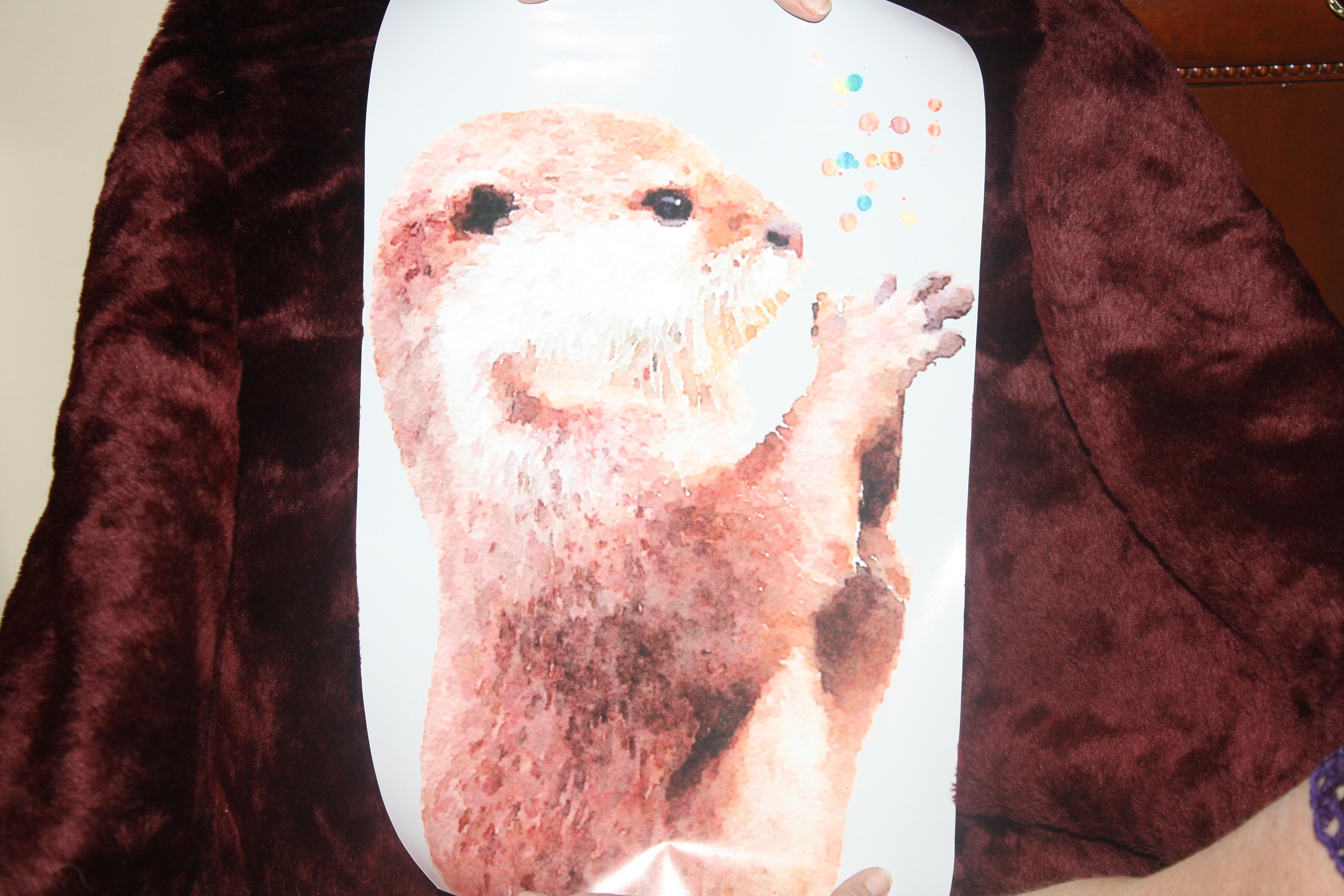 99. Otter print