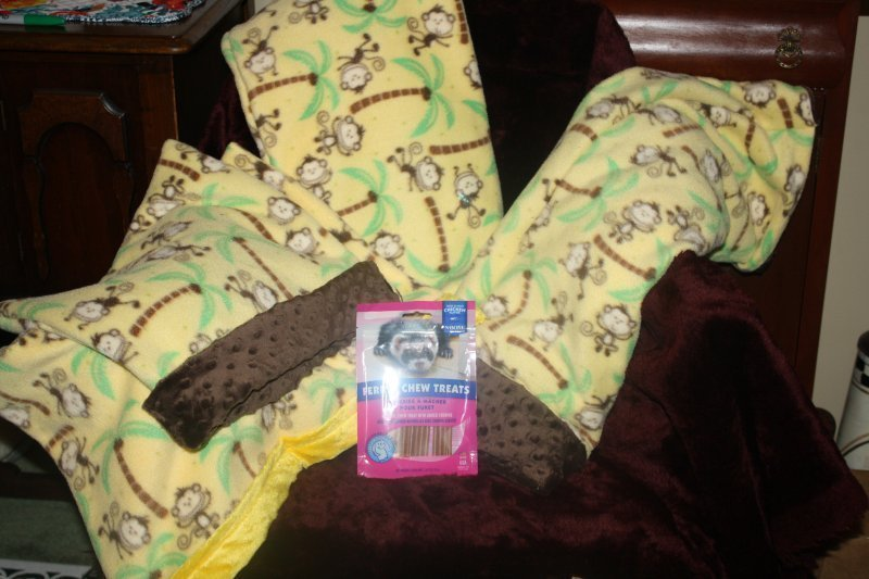 315. Monkey 4 pce bedding set