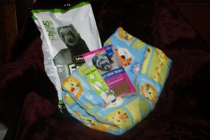 318. Baby animals bedding w/zupreem food