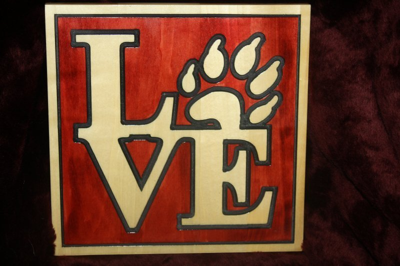 """201. """"Love"""" wooden sign"""
