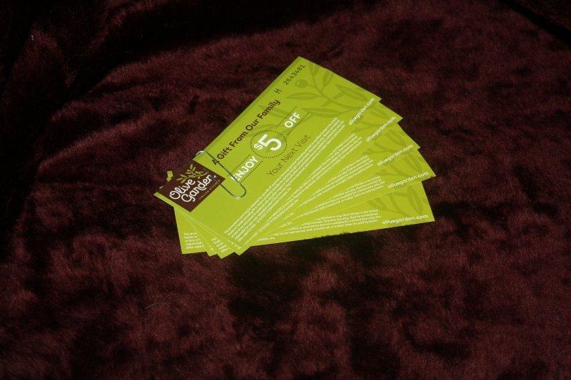 213. Olive Garden--(5)-$5 gc