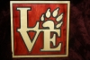 "201. ""Love"" wooden sign"