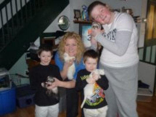 The Mowbray family from PA took Pixie, Lucy, Bonnie and Bowser 1/2011